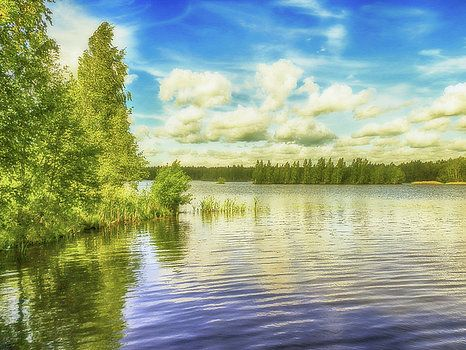 Sunny summer day on the big lake forest by George Westermak# George Westermak#Landscape#FineArtPfotography#ArtHomeDekor