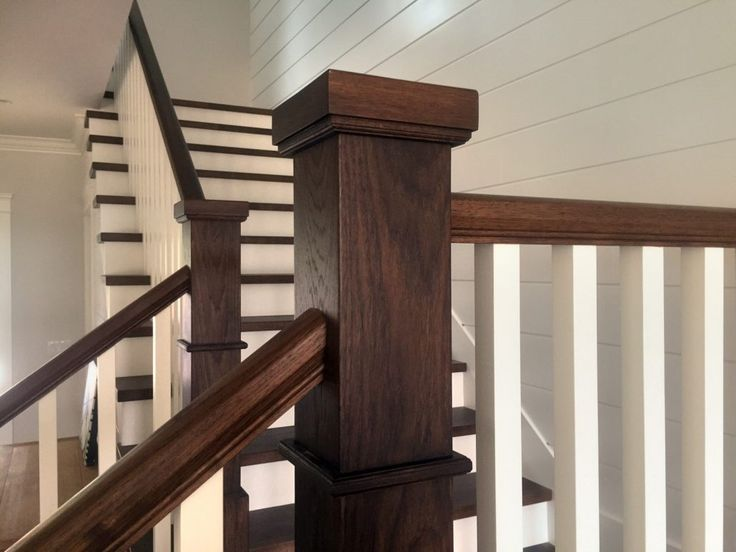 Wide Plank Hardwood   Hickory Stair Treads, Newel Posts and Handrails