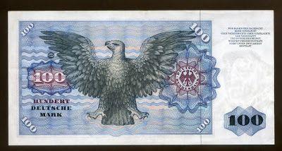 German bank notes 100 DM Deutsche Mark