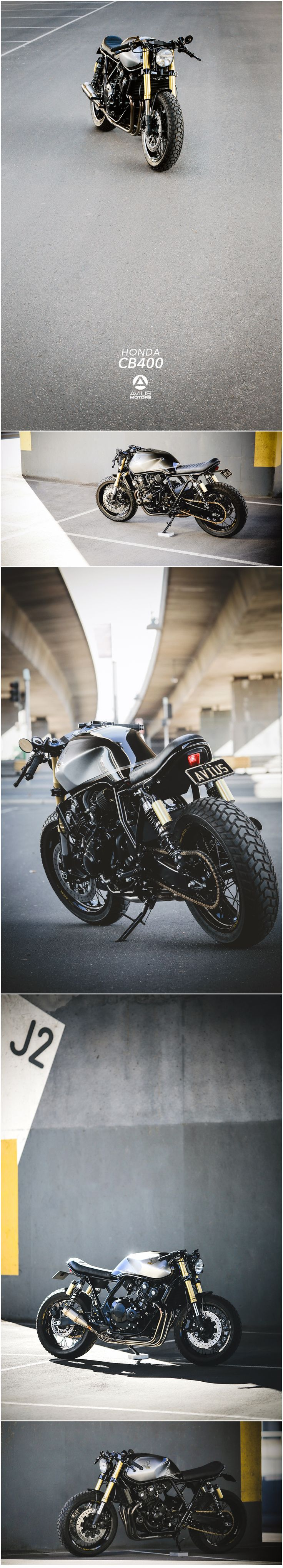 """Scout by Aviusmotors""  Honda CB400 Cafe Racer  (Posted by Jake Rypien via Cafe Racer Palette)"