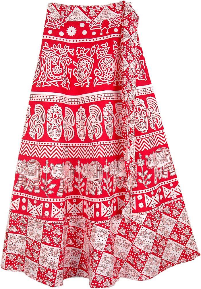 Elephant Skirt hippie Skirt Long skirt beautiful skirt Red