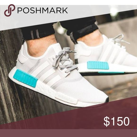 """Adidas NMDS Adidas NMDS """"Gray & White"""" originals. Worn ONLY once. It's in boys (kids) size 3.5 = women's size 5.5. *NOT my picture but I will post the actual shoes tomorrow. NO TRADES. Adidas Shoes Sneakers"""