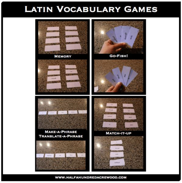 Games to practice and review vocabulary and translation of John 1 Latin and English.