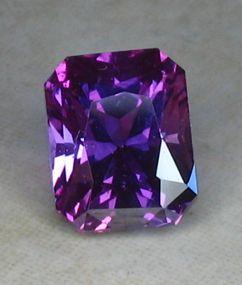 2.22ct Purplish Emerald Cut Sapphire