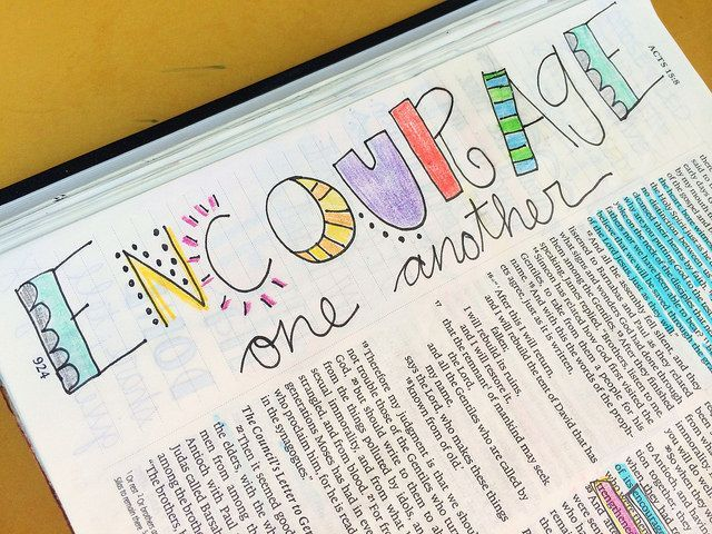 A lovely and simple word art illustration. #biblejournaling