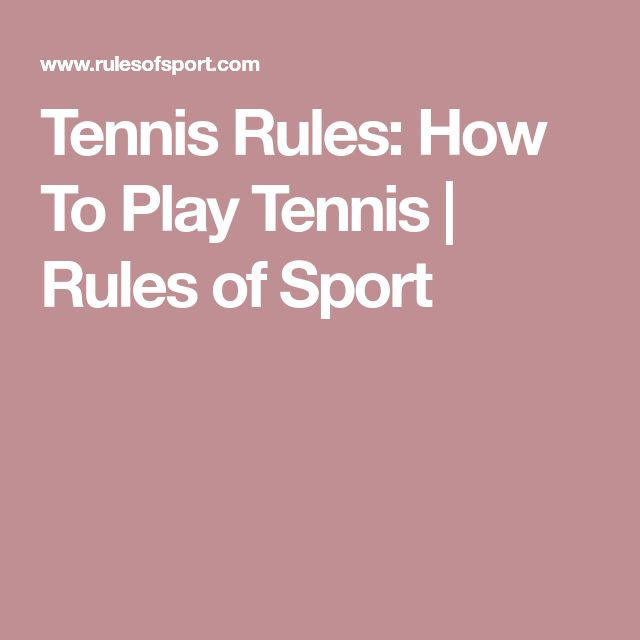 Tennis Rules: How To Play Tennis | Rules of Sport #tennishowtoplay