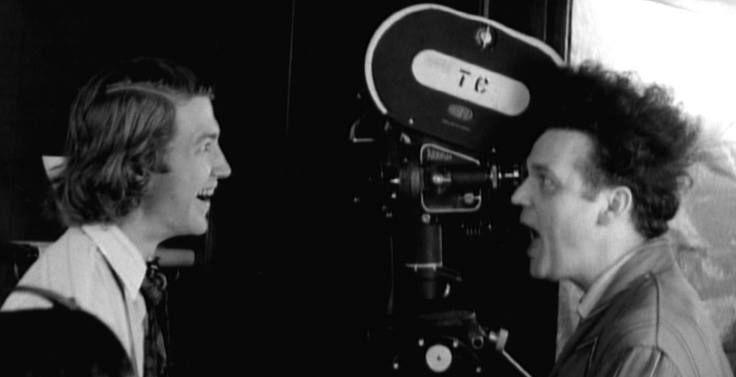 david lynch and jack nance on the set of eraserhead