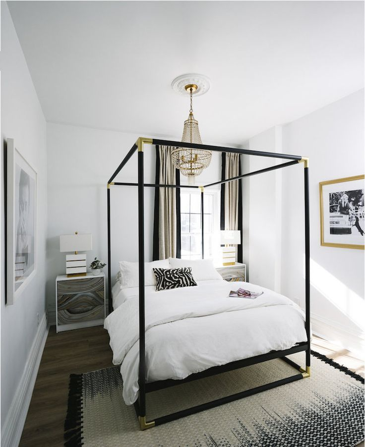 This Gold Brass Modern Canopy Bed Is Pure Glamour Canopy Bedroom Modern Canopy Bed Home Decor Bedroom