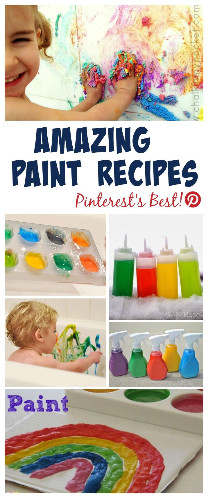 Amazing paint recipes for kids- so many fun ideas I can't wait to try!