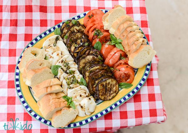 Tasty and Simple Grilled Italian Antipasto Eggplant Recipe Makes Entertaining Easy   Tikkido.com