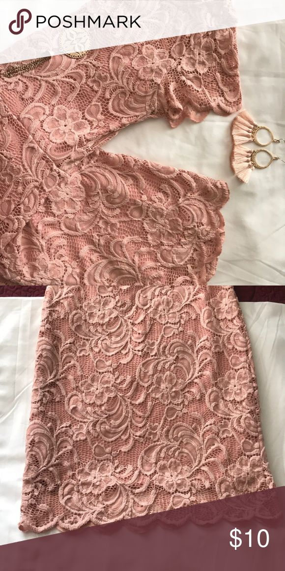 Innocent Baby Pink Mini Dress 👑 Precious Tight & Lacey Dress 💗 Ambiance Dr... 8