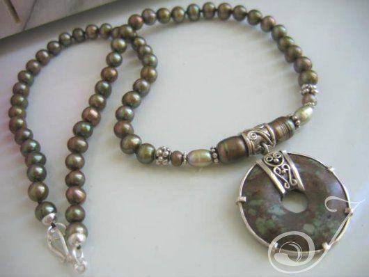 Peace Train Leopidolite Necklace – Pearl Jewellery