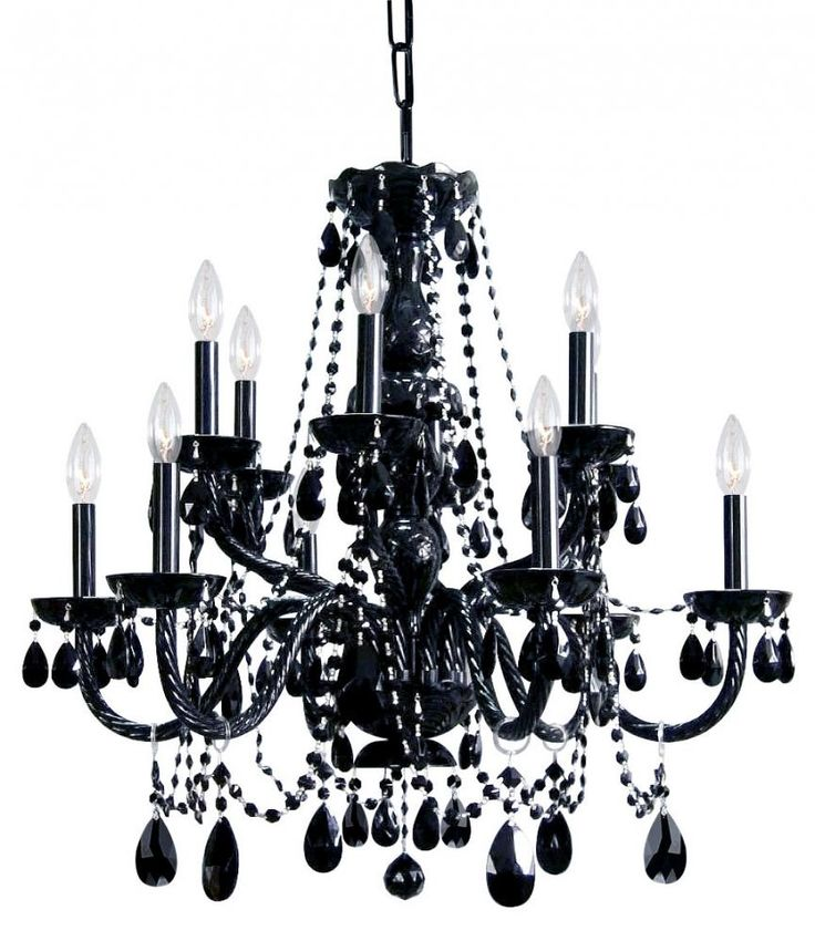14 best Black Chandeliers images on Pinterest | Black chandelier ...
