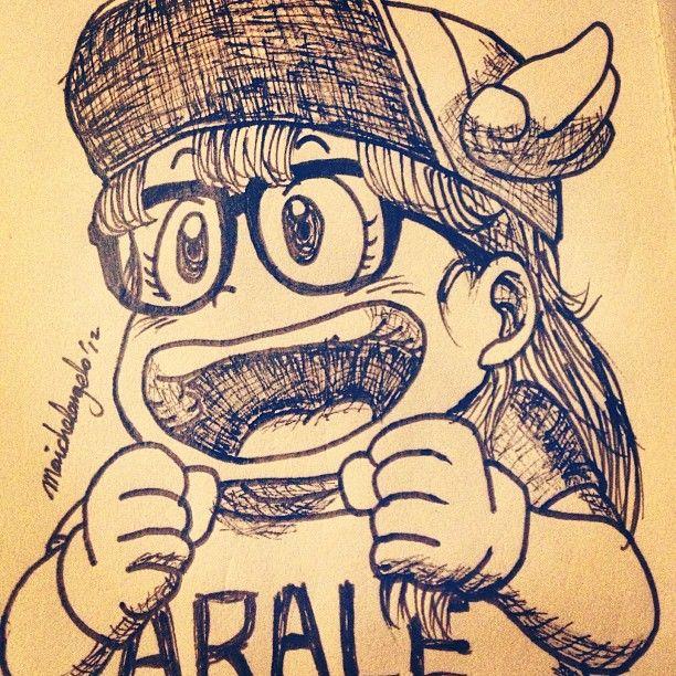 Sketching Arale of Dr. Slump. #art #illustration