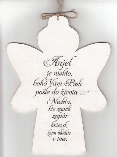 Drevený anjel: Anjel je niekto... | 7,76 € - obrázok