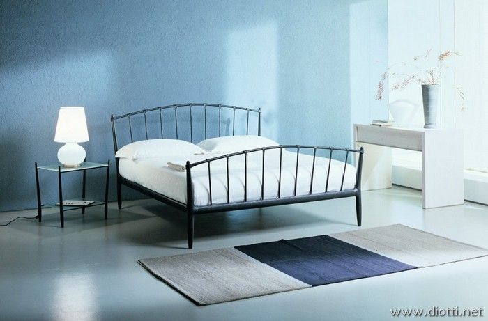 Teorema Is Minimal Wrought Iron Bed With Aluminium Details Which