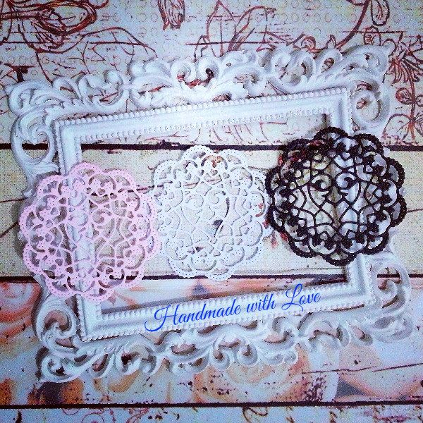 Sophie Mini Hearts Doily, 1 pack of 10pcs. Great for your cards, scrapbooks, tags, decoration, banner and many more! by PaperCraftwithLove on Etsy
