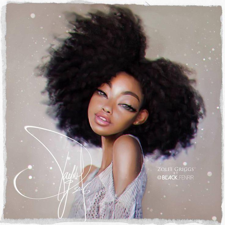S Black Female Cartoon Characters : Best natural hair art images on pinterest black