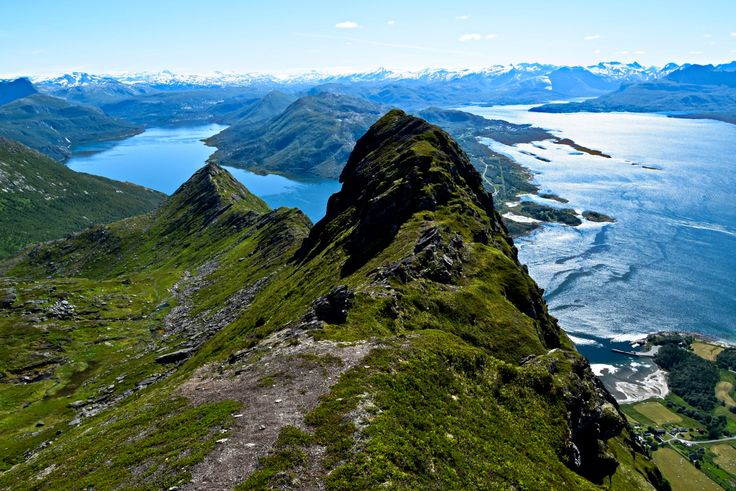 Northern Norwegian fjords and mountains landscape