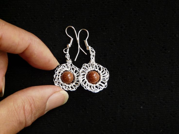 A personal favourite from my Etsy shop https://www.etsy.com/uk/listing/216813662/crochet-earrings-with-silver-plated