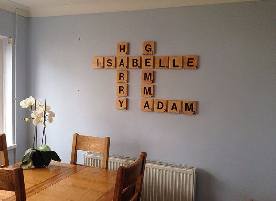 enjoy your very own giant scrabble inspired letter tile set to create a beautiful custom art