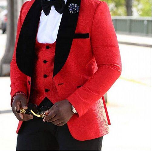 >> Click to Buy << 2017 Real Terno Smoking Brand New Groomsmen Shawl Lapel Groom Tuxedos Men Suits Wedding Best Man Blazer (jacket+pants+vest) C45  #Affiliate