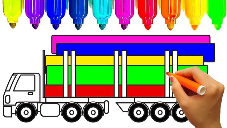 Learn colors for kids with super monster truck coloring pages | Fun colo...