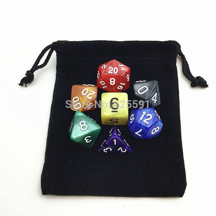 """[Visit to Buy] 50pcs/set Dice bag 8.5*10cm(3.35*4"""")  Black Retail Jewelry Velvet Gift Packaging Bags & Pouches Board Game #Advertisement"""