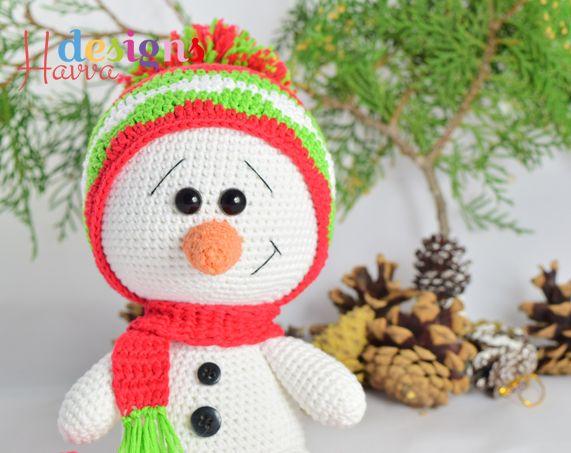 Cute Snowman Amigurumi Pattern Amigurumi Pinterest Snowman