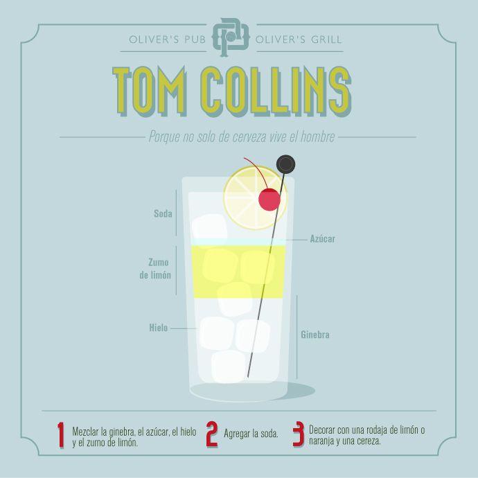 Here's the recipe for a refreshing Tom Collins // Aquí está la receta para un refrescante Tom Collins.   #TomCollins #Cocktails #Cócteles #Ginebra #Recipes #Recetas http://olivermag.com/tom-collins/