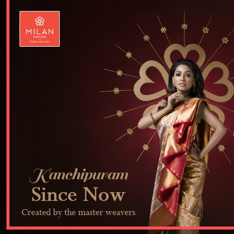 #‎MilanDesign‬ presents the pure ‪#‎KanchipuramSarees‬ to add more elegance to your beautiful day! Visit us at : www.milandesign.in ‪#‎KanchipuramSinceNow‬