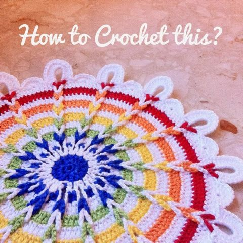 Last time, I made similar one in Dec(another diary) →Finally!.   Today I was trying again. I tried 1mm hook.  Watiching photo and trying crocheting doily.   So, today, atlast I finished!      I hope this my memo help you ;)           I draw same colour.   I'm sorry I dont know how to explain in US style, but I tried. If you don't know how to see chart, please try to understand these :P↓   At first in magic ring, starting 7sc. R2,  dc2 in sc1 on magic ring.(blue) R3, ch3+ch10=ch...