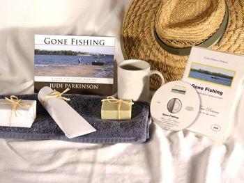 Give a DVD Movie & Picture Book - GONE FISHING - Support the lasting gift of a movie or book by adding these sensory gifts to support engagement and reminiscence for a person in care. Judi Parkinson Activities  http://sharetimepictures.com.au/GIFTS.php
