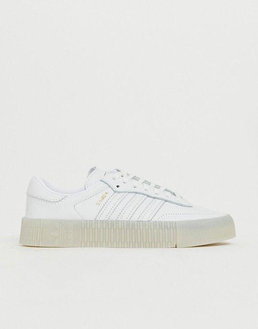 ddc53fc1 Adidas Originals Samba Rose Sneakers In Triple White in 2019 ...