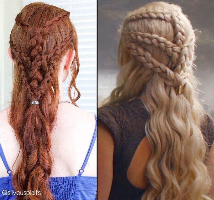 Episode Game Hairstyles In 2020 Hair Styles Targaryen Hair Daenerys Hair