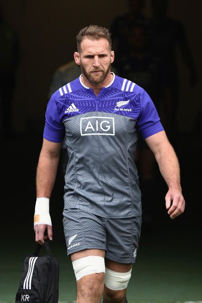 Kieran Read of the All Blacks during a New Zealand All Blacks training session at Eden Park on October 20, 2016 in Auckland, New Zealand.