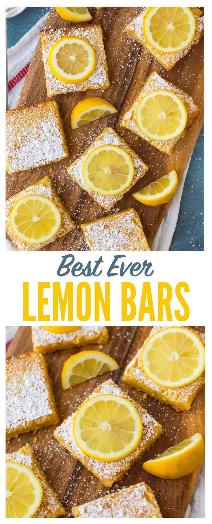 The BEST Lemon Bars recipe! Lusciously creamy and bursting with bright lemon flavor, these easy lemon squares with shortbread base take minutes to prep and always wow the crowd. Better than the Pioneer Woman, Ina Garten, and Paula Deen combined! #easy #lemonbars  via @wellplated