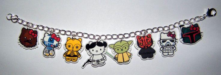 Charm+Bracelet+Hello+Kitty+Star+Wars+Bracelet+Yoda++by+Murals4U,+$19.99