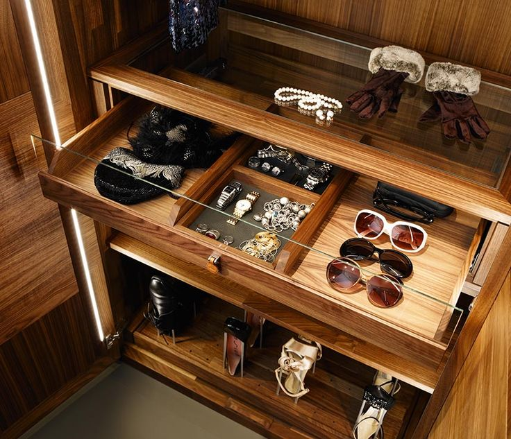 Luxury wardrobe internal drawers