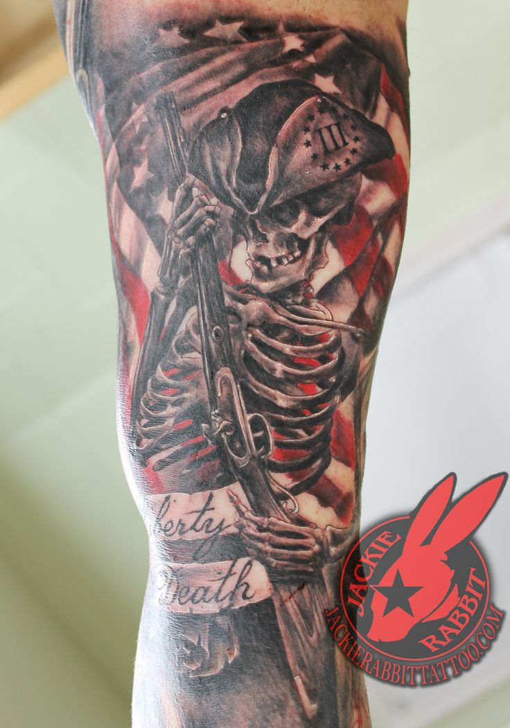 american revolutionary war flag soldier patriot skeleton ForAmerican Revolutionary War Tattoos