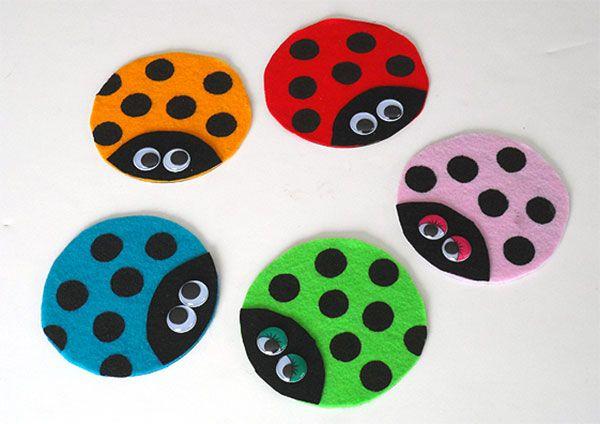 Coccinelle con CD riciclati