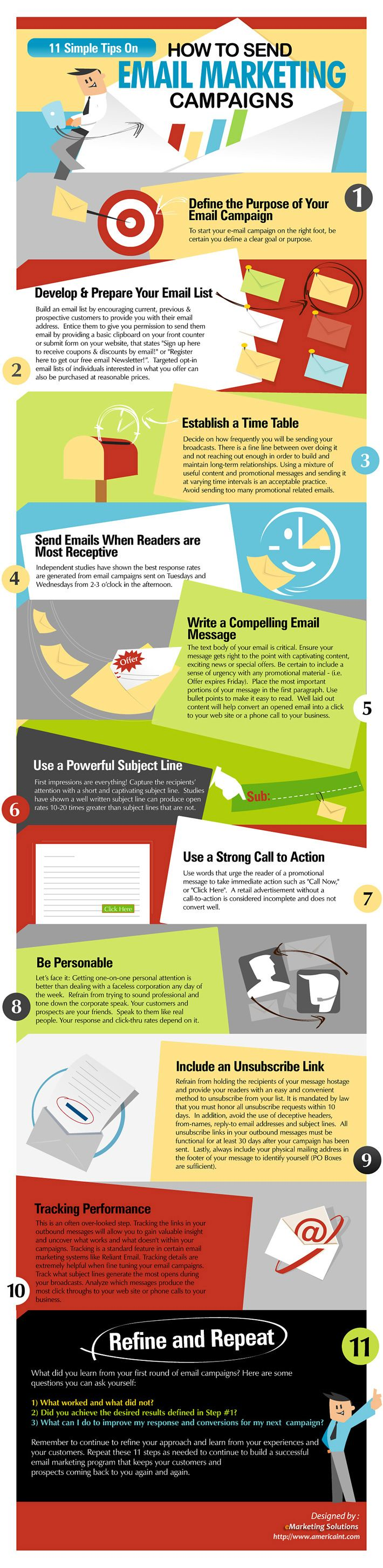 11 Tips on Sending Email Marketing Campaigns
