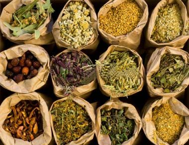 Herbs for Natural Medicine---a list of the 30 most popular and what they are good for.