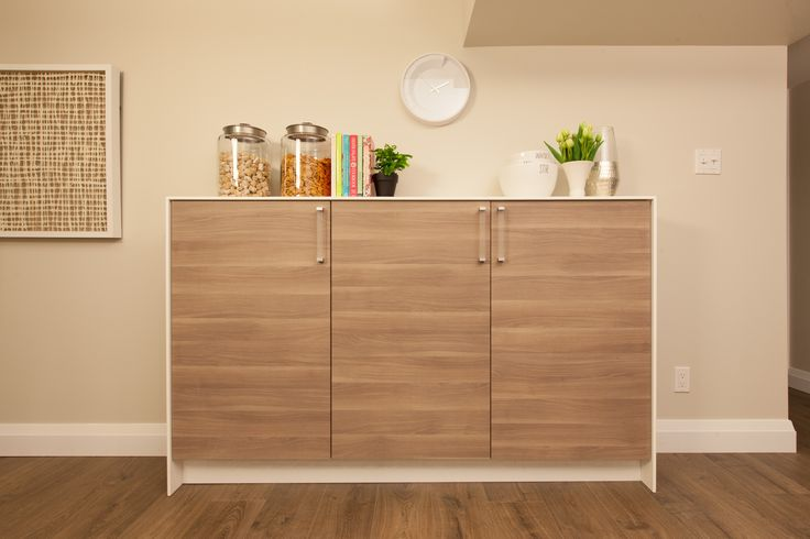Use kitchen cabinets to create pantry's and extra storage #IncomeProperty