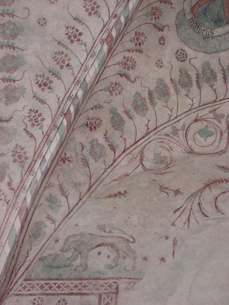 Medieval ceiling paintings of Spånga church, Sweden