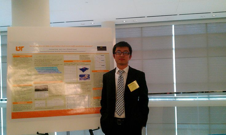 Engineering student developing traffic forecasts. Much like meteorologists using data and instrumentation to forecast the weather, Yang's idea focuses on officials using various means to calculate where problems and slowdowns might occur before they happen. Using the data cleverly can achieve a level of accuracy in short-term traffic forecasting. In turn, that will provide the public with more accurate travel time information when planning for a trip.