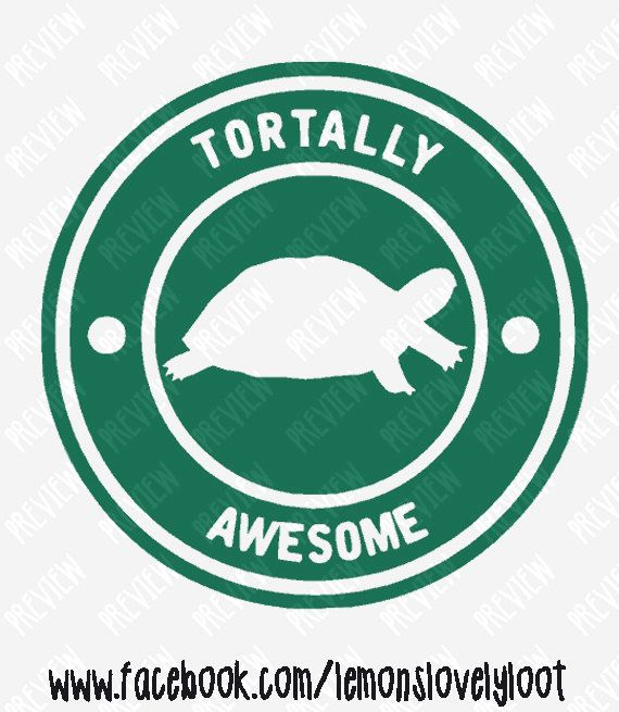 Tortally awesome tortoise turtle layered vinyl decal sticker bumper
