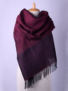 ILLANGO FASHION, HANDWOVEN SCARVES, linen scarf with silver threads