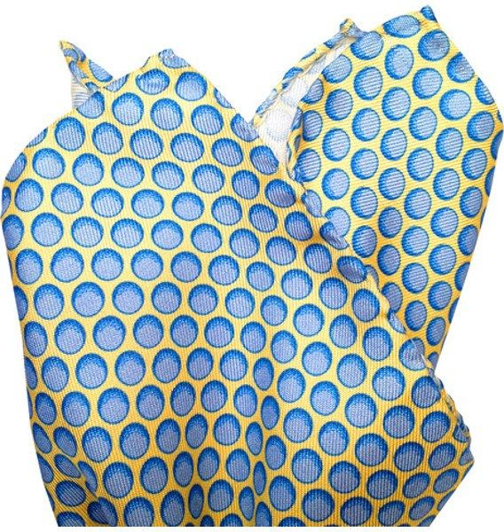Blue Balls Pocket Square Get your mind out of the gutter! They're GOLF balls! From Lazyjack Press-recently featured on Billion Dollar Buyer! These cheeky designs are printed on Hermes Italian silk twill.  Hand-rolled edges.  Crafted in Italy to the highest specifications. #accessories #dapper #elegant #fashion #mensaccessories #menswear #cheeky #preppy #preppystyle #style