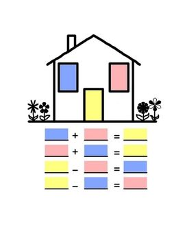 This activity is structured to assist students in understanding the concept of fact families.  Included are color and black line fact family houses...